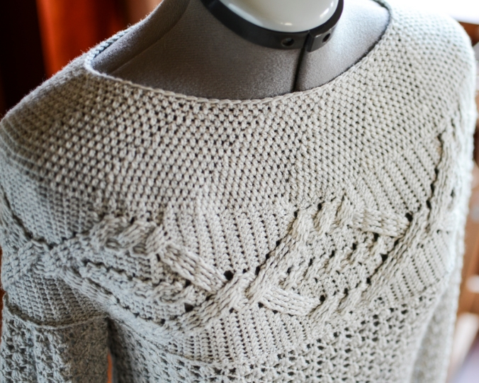 Cables and Lace Tunic