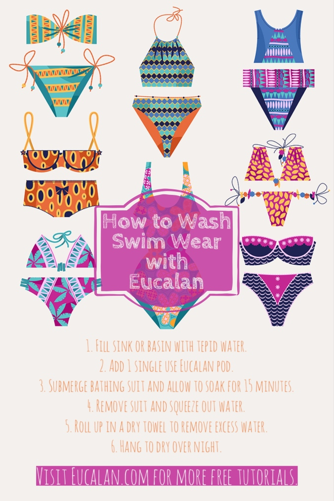 How to wash your swimwear with Eucalan.