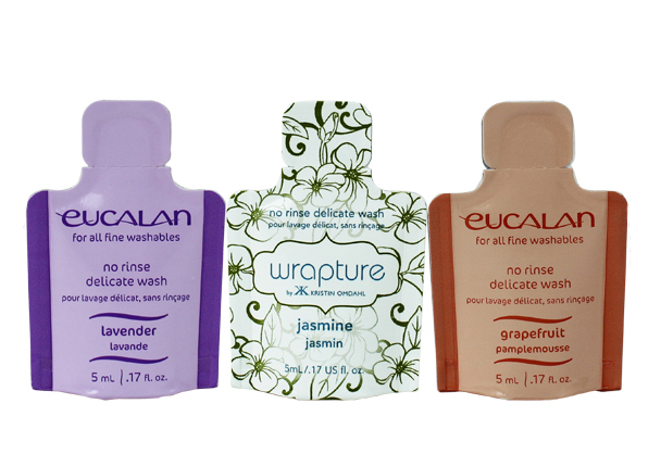 Single Use Pods of Eucalan are great for travel.