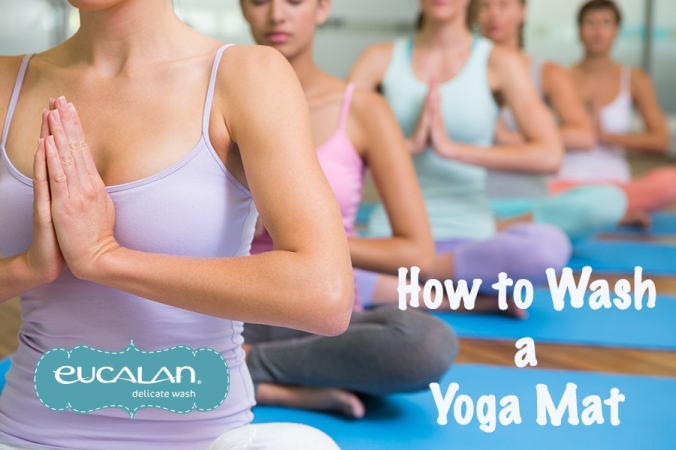 How to wash a yoga mat with Eucalan